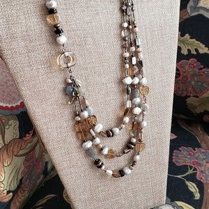 Vintage Silpada Natural Stone Necklace